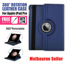 Blue 360 Rotation Durable Stand Smart Leather Case for Apple iPad Pro