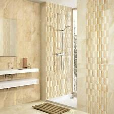 Ardor Cream Gloss Mix Mosaic Marble Effect Ceramic Beige Wall Tiles 500x250x8mm