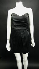NEW LADIES PINK/BLACK SATIN BONED BODICE COCKTAIL PARTY DRESS SIZE 8 & 10