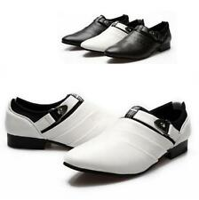New fashion Mens Wing Tip Dress formal Shoes Buckle Loafers Slip On Flat Shoes