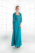 TheDressOutlet Modest Long Mother of the Bride Dress Plus Size with Jacket