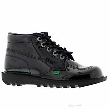 Kickers Kick Hi Core Black Patent Womens Shoes - KF0000120-BXW