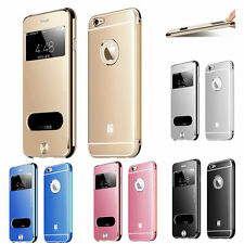"New Luxury Ultra Metal Flip Window Case Cover for Apple iPhone6 4.7"" 6 Plus 5.5"""