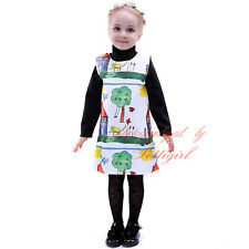 Charater Print Casual Girls Dress Autumn Holidays Floral Birthday Party Costume