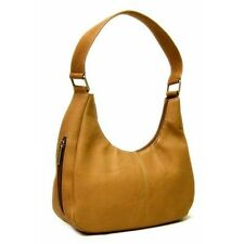 Le Donne Leather Single Handle Side Zip Hobo Bag. Delivery is Free