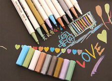 10pcs Metallic Marker Felt Tip Pen Brush Pen Album Card Making Scrapbooking CN