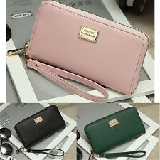 Women Lady Leather Clutch Coin Phone Bag Long Purse Wallet Card Holder US Stock