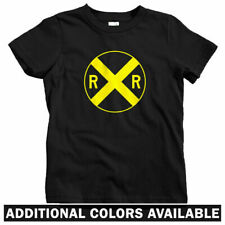 Railroad Crossing Kids T-shirt - Baby Toddler Youth Tee - RR Train Hobby Sign