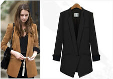 New Arrival Women Long Sleeve Lapel Suit Slim Blazer OL Coat Jacket Outwear 2015
