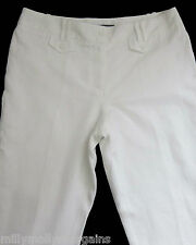 New Womens White Linen Tailored NEXT Crop Trousers Size 16 14 8