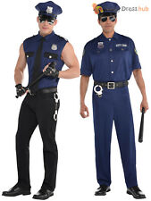 Adults Police Costume Mens Policeman Cop Fancy Dress Emergency Uniform Outfit
