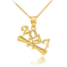 2017 Class Graduation 14k Gold Pendant Necklace