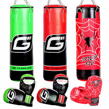 Gallant Kids Filled Boxing Punch Bag Sparring Gloves Kick Training Children Set