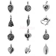 Keepsake Memorial Cremation Urn Jewelry Silver Stainless Steel Pendant Necklace