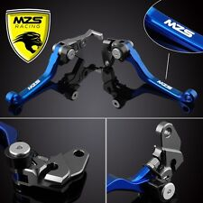 MZS Blue Pivot Brake Clutch Levers for Honda CRF250R 2004-2006/CRF450R/2004-2006