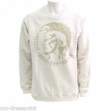Diesel Sergej Men'S Mohican Pullover Sweater Hoody Crew neck Beige Size S M L XL
