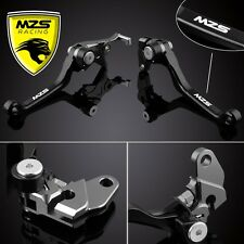 MZS Black Pivot Brake Clutch Levers for Honda CRF250R 2004-2006/CRF450R/04-2006