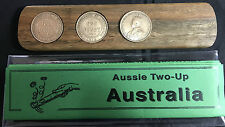 Aussie Two-Up Game set w/original Australian pennies 100 years old 1916
