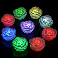 7 Colors Changing Rose Flower LED Light Night Candle Light Lamp Romantic Party
