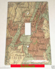 Old New York City NYC Map Toggle Rocker Light Switch Power Outlet Plate Cover