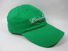 Green Budweiser Shamrock Velcro Back Ball Cap Hat St Patrick's Day Headgear 1 Sz