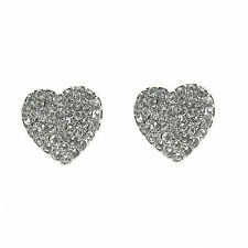 Pave Heart Stud Earrings made with SWAROVSKI® Crystals