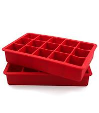 Tovolo Perfect Ice Cube Trays - Candy Apple Red
