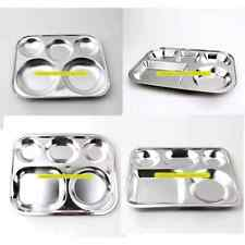 FOOD TRAY for kids/baby COMPARTMENT FOOD SERVING TRAY Stainless Steel Divided Fo