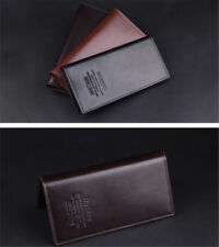 Mens Long Casual Leather Wallet Pockets Card Clutch Cente Bifold Purse US Stock