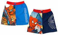 Boys Shorts Swim Spiderman Marvel Spidey Mesh Lined Kids Sun 4 to 10 Years