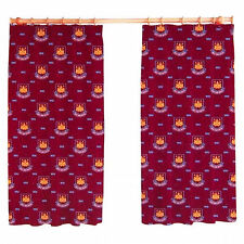 "Official West Ham Utd FC Football Club Curtains 66 x 72"" Or 66 x 54"" Inch Drop"