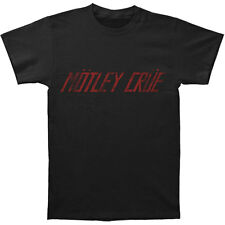 Motley Crue Men's  Logo Tee Slim Fit T-shirt Black Rockabilia
