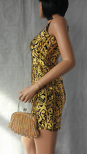 New women's gold beading design feature, vintage style clutch bag, evening bag