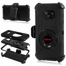 Rugged Hybrid Hard Case Cover Belt Clip Holster For Samsung Galaxy S7 or S7 Edge