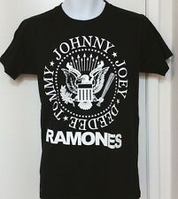 ~RAMONES~...*JOHNNY,JOEY,DEEDEE, AND TOMMY*... Black Graphic T- Shirt.