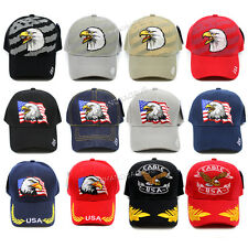 Eagle American Flag USA Baseball Cap Military Cap Embroidered Adjustable Hat New