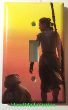 Star Wars BB8 & Rey Light Switch Power Outlet Cover Plate Home decor