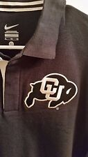 Nike Colorado University CU Buffs Black Gold Short Sleeve Polo Shirt M XL *NEW