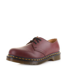 Womens Dr Martens 1461 Cherry Red Smooth Lace Up Leather Fl.At Shoes Sz Size