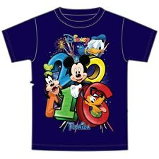 Disney Adult 2016 Dated Stacked Goofy Mickey Pluto Donald Tee Florida