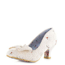 Womens Irregular Choice Dazzles 2Nd Razzle Cream Floral Wedding Shoes Sz Size