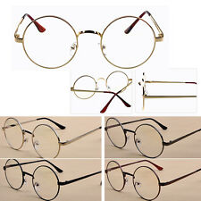 Fashion Women Men Plain Glasses Cute Round Vintage Eyeglasses Frame Spectacle