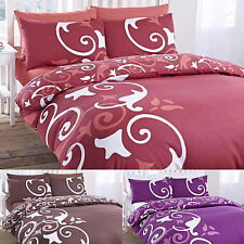 4 Piece Abigail Duvet Bedding Quilt Complete Cover Pillowcases Fitted Sheet Set