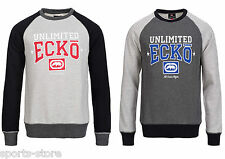 Mens Ecko Crew Neck Casual Sweat Top Sports Track Top Cargo Size M-XXL
