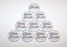 Team Bride Wedding Ring Pins Bachelorette Party Favors Pin Back Buttons -10 Pack