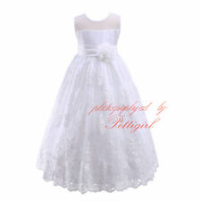Flower Big Girl Bridesmaid Dress Birthday Wedding Pageant Recital Formal Dresses