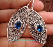 Hand Crafted Sterling Silver Bali Designer Earrings ER-675-DG