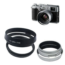 Metal Lens Hood for Fujifilm Finepix X10 X100 LH-JX10 Camera with Adapter Ring