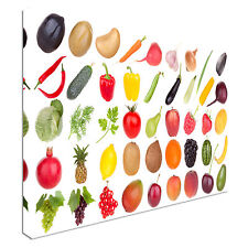 Fruits and Vegetables Food 40x20inches Wall Picture Canvas Art Cheap Print
