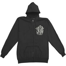 I Killed The Prom Queen Men's  Monogram Zippered Hooded Sweatshirt Black